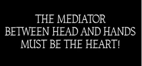 the mediator between head and hands